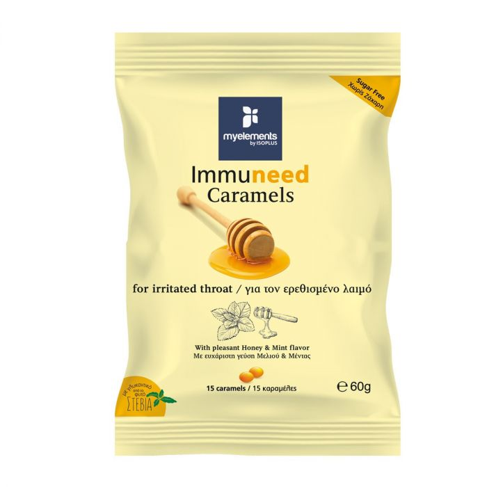 Immuneed Caramels with Herbal Extract & Mint with Honey-Mint flavor