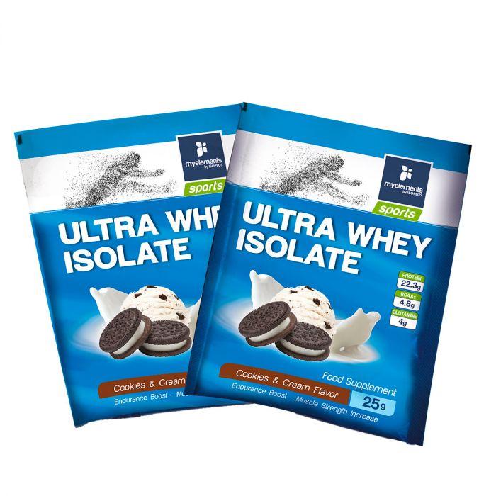 Ultra Whey Isolate με γεύση Μπισκότο-Βανίλια 25g